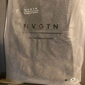 NVGTN speckled contour black leggings small. New